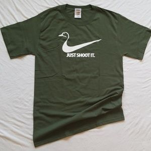Duck Hunting Tshirt Just Shoot It Men's Tee